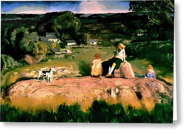 Valley Girl Greeting Cards - Three Children Greeting Card by George Bellows