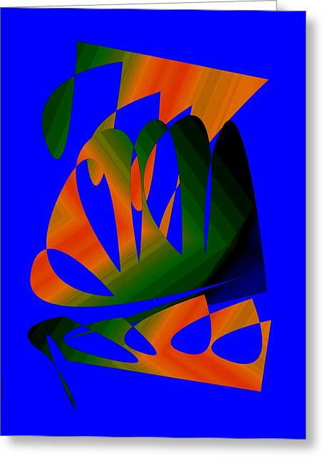 Abstract Style Greeting Cards - Three Colors Designs Greeting Card by Mario  Perez