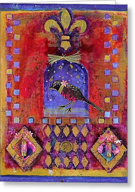 Three Dimensional Art Greeting Card by Janet Ashworth