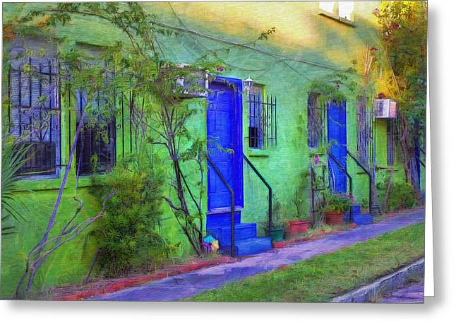 Van Gogh Style Greeting Cards - Three Doors Down  Greeting Card by L Wright