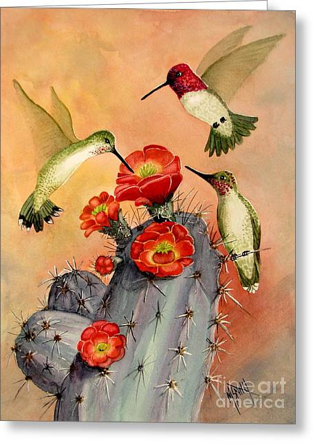 Three For Breakfast Greeting Card by Marilyn Smith