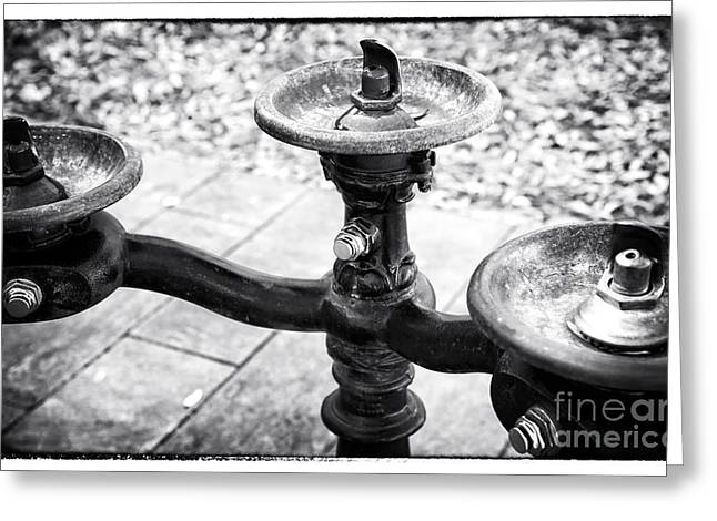 Gallery Three Greeting Cards - Three Fountains Greeting Card by John Rizzuto