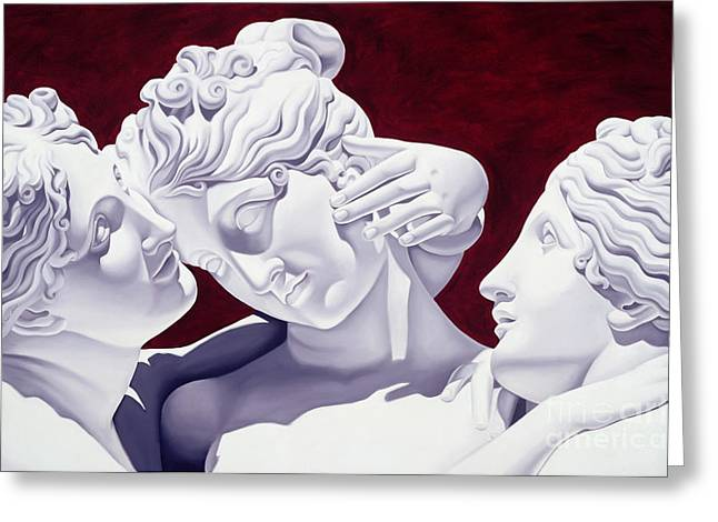 Sculptures Sculptures Greeting Cards - Three Graces Greeting Card by Catherine Abel