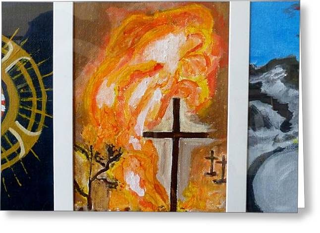 Holy Thursday Greeting Cards - Three Great Days Greeting Card by Ann Whitfield