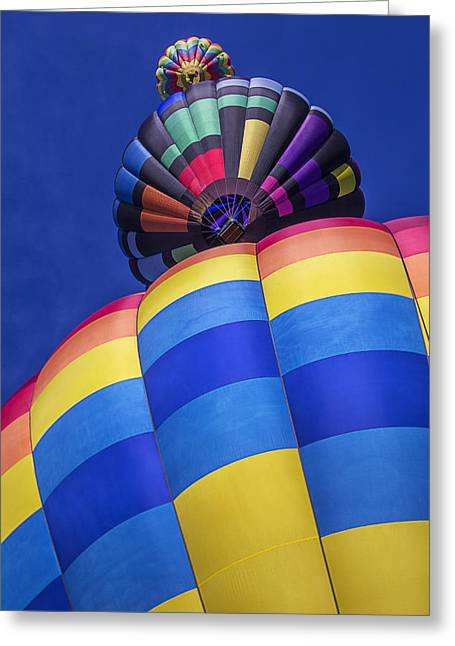 Hot Color Greeting Cards - Three Hot Air Balloons Greeting Card by Garry Gay