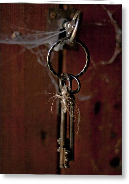 French Open Greeting Cards - Three Keys Greeting Card by Nomad Art And  Design