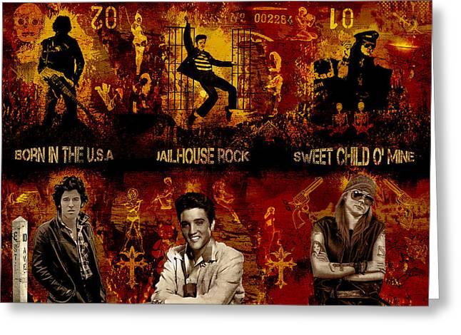 Bruce Springsteen Digital Art Greeting Cards - Three Kings Greeting Card by Dancin Artworks