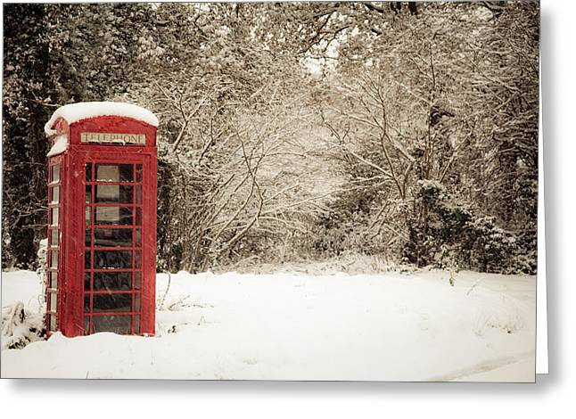 Legs Crossed Greeting Cards - Three Leg Cross phone box Greeting Card by Dawn Bowery
