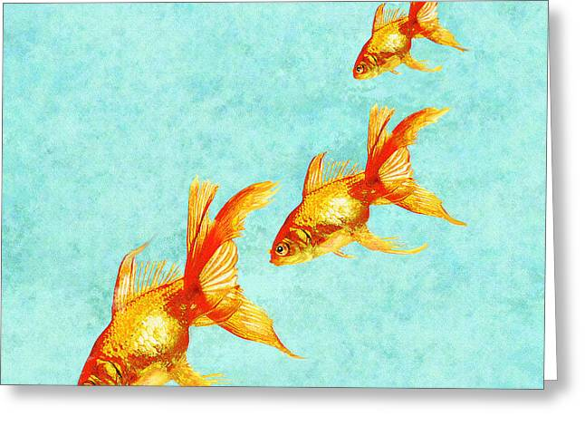 Three Little Fishes Greeting Card by Jane Schnetlage