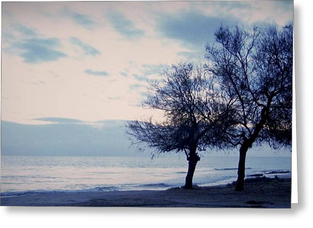 Amalfi Sunset Greeting Cards - Three lonely trees Greeting Card by Gianluca Sommella