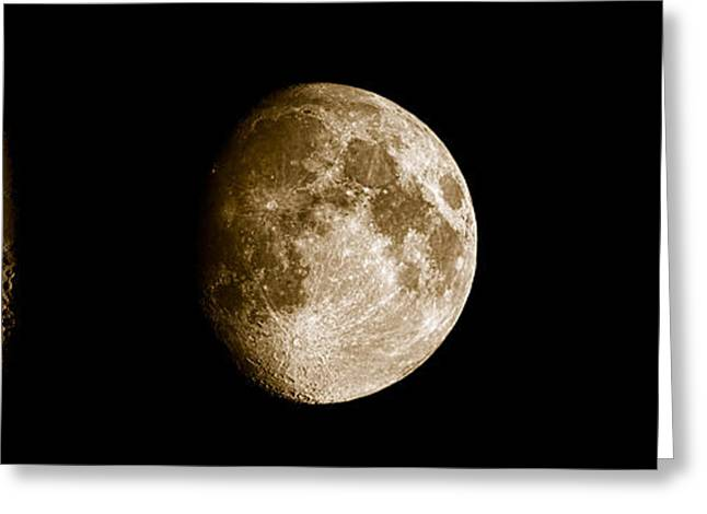 Moonrise Greeting Cards - Three Moons No2 Greeting Card by Weston Westmoreland