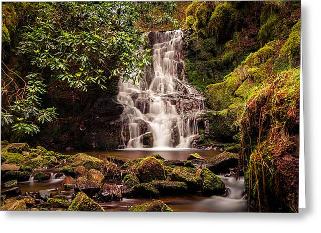 Motion Greeting Cards - Three Nooked Shaw Waterfall. Greeting Card by Daniel Kay