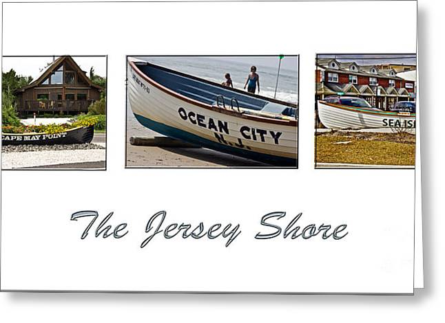 Seaside Decor Posters Greeting Cards - Three of a Kind in New Jersey Greeting Card by Tom Gari Gallery-Three-Photography