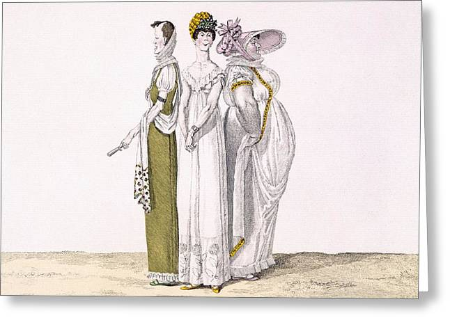 Spoof Greeting Cards - Three Parisian Graces, Plate 16 From Le Greeting Card by French School
