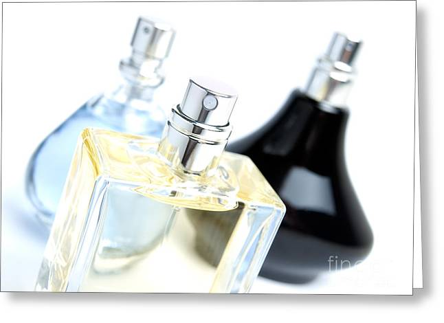 Perfumeries Greeting Cards - Three perfumes Greeting Card by Sinisa Botas