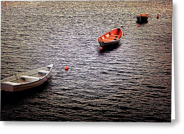 Phillies Photographs Greeting Cards - Three Philly Boats Greeting Card by Beth Akerman