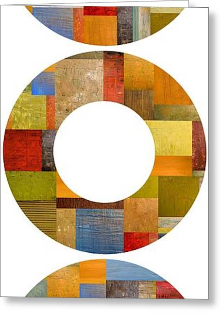 Geometric Design Greeting Cards - Three Rings Greeting Card by Michelle Calkins