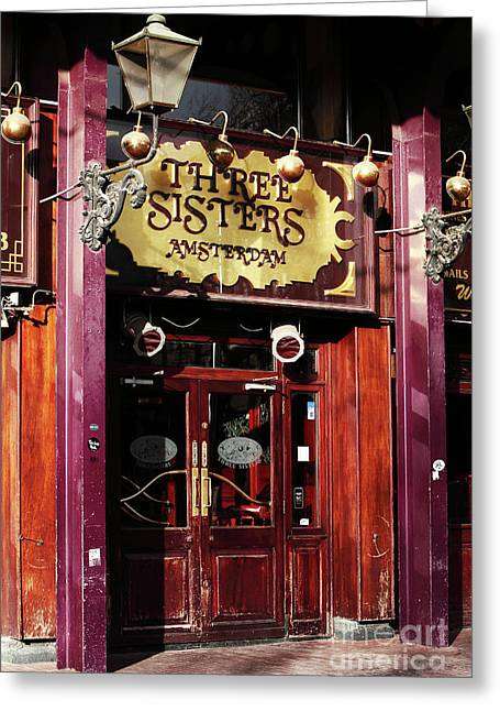 Gallery Three Greeting Cards - Three Sisters Amsterdam Greeting Card by John Rizzuto