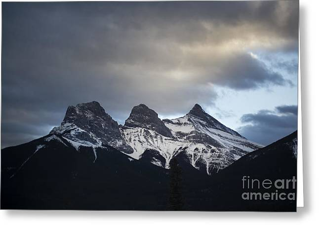 Canadian Nature Scenery Greeting Cards - Three Sisters Greeting Card by Evelina Kremsdorf