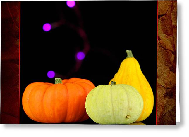 Three Small Pumpkins Greeting Card by Toppart Sweden