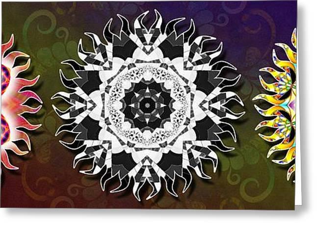 Geometric Image Greeting Cards - Three Stage Awakening Greeting Card by Derek Gedney