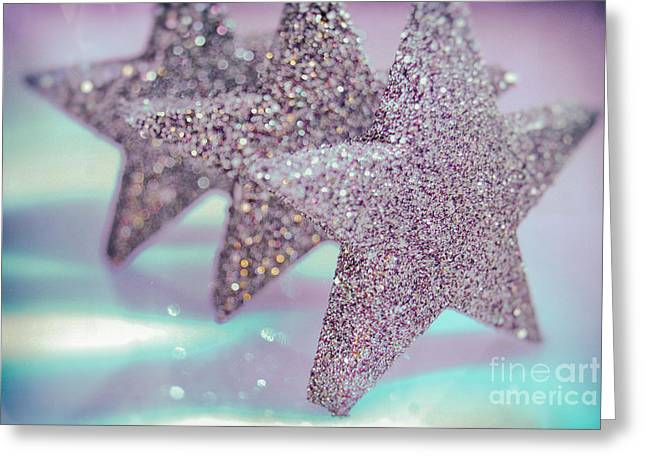 Weihnachten Greeting Cards - Three Stars Greeting Card by Sabine Jacobs