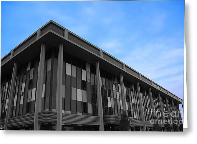 Three Story Selective Color Building Greeting Card by Bill Woodstock