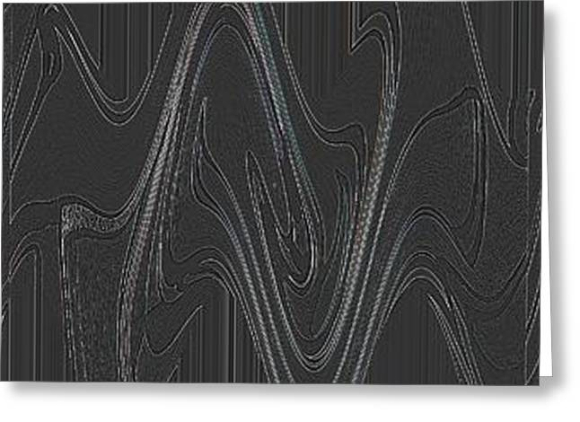 Abstract Forms Greeting Cards - Three Swirls Rippled and Altered Greeting Card by Helena Tiainen