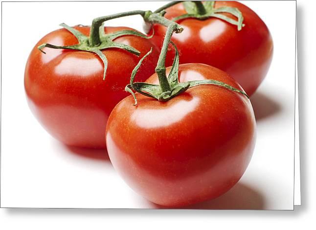 Erickson Greeting Cards - Three Tomatoes on Vine Greeting Card by Donald  Erickson