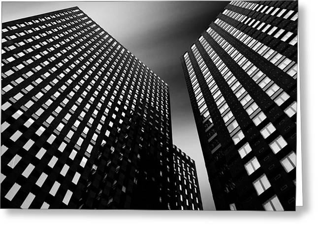 Best Sellers -  - Light And Dark Greeting Cards - Three Towers Greeting Card by Dave Bowman