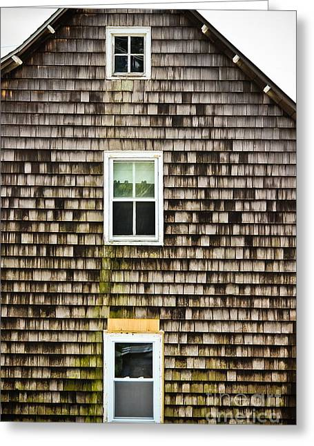 Original Art Photographs Greeting Cards - Three Windows Greeting Card by Colleen Kammerer