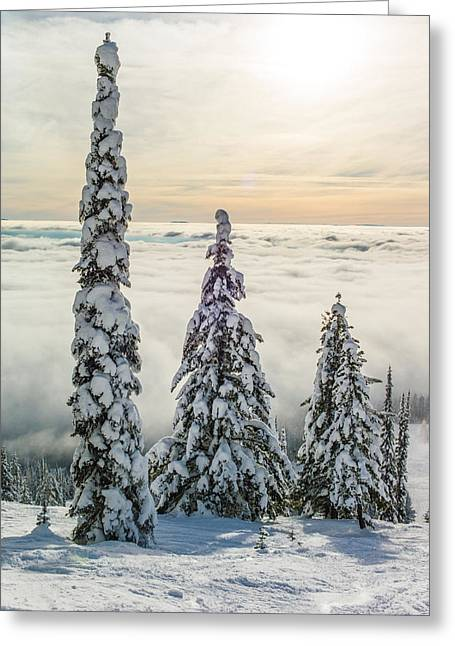 Inversion Greeting Cards - Three Wise Men Greeting Card by Aaron Aldrich