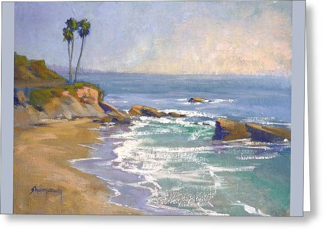 Heisler Park Greeting Cards - Threes Company Greeting Card by Sharon Weaver