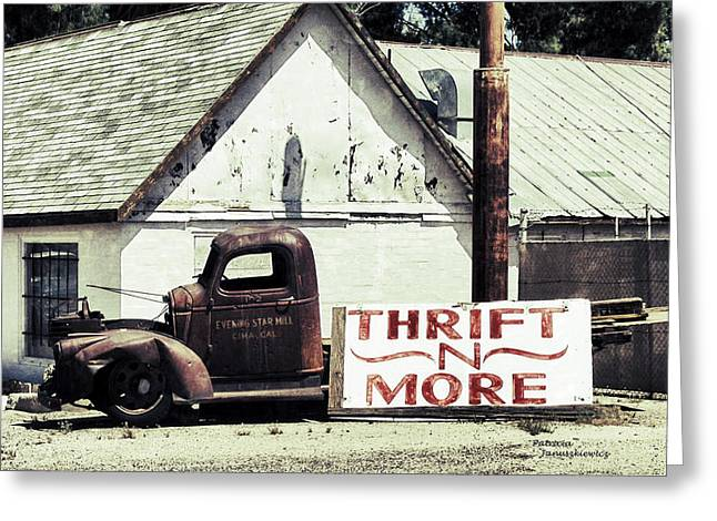 Yermo Greeting Cards - Thrift N More Greeting Card by Patricia Januszkiewicz
