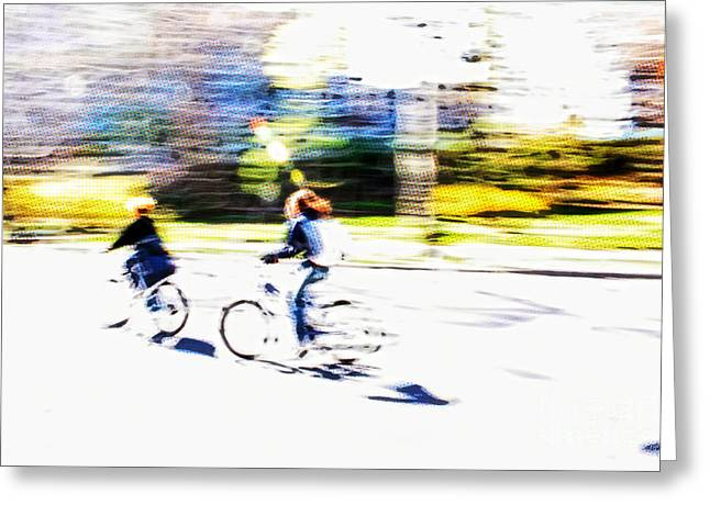 Warm Summer Greeting Cards - Thrill of Riding - Living Life to the Fullest Greeting Card by Nishanth Gopinathan