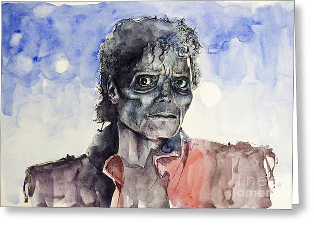 Michael Jackson Greeting Cards - Thriller 2 Greeting Card by MB Art factory
