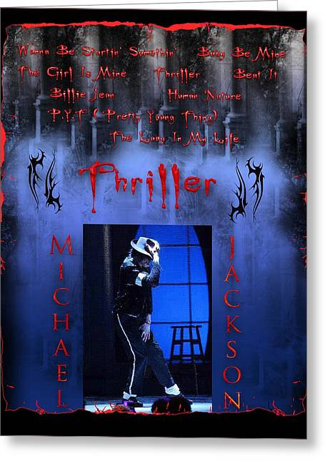 Beat It Digital Art Greeting Cards - Thriller Greeting Card by Michael Damiani