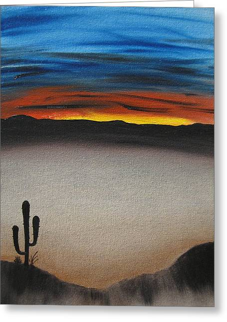 Bob Ross Paintings Greeting Cards - Thriving In The Desert Greeting Card by Sayali Mahajan