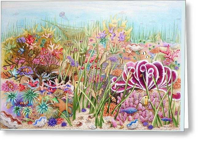 Thriving Ocean  Greeting Card by Katherine Young-Beck