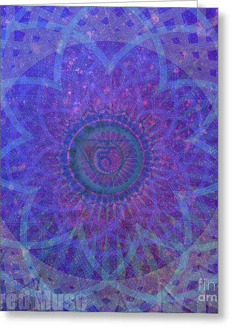 Throat Chakra Greeting Card by Sacred  Muse