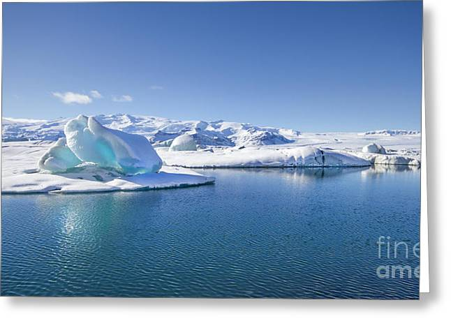 Glacial Greeting Cards - Throne Of Ice Greeting Card by Evelina Kremsdorf