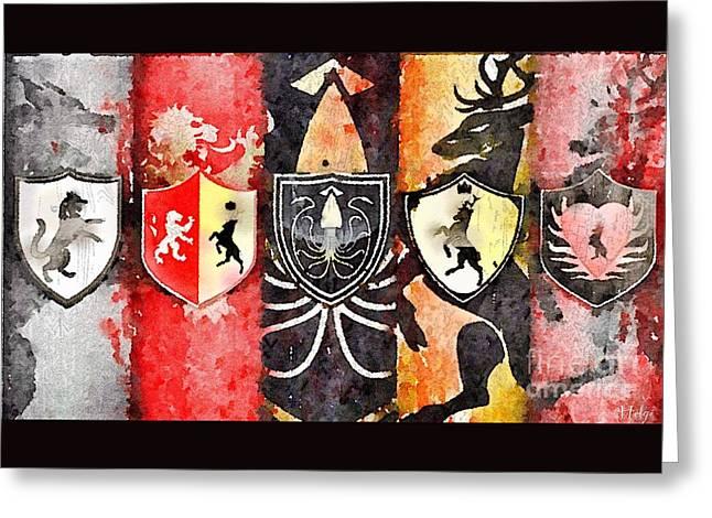 Thrones Greeting Card by HELGE Art Gallery