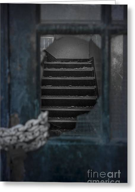 Old Lock Greeting Cards - Through a Broken Glass Greeting Card by Svetlana Sewell