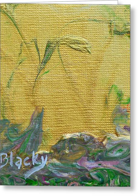 Drip Art Greeting Cards - Through A Sunlit Veil Greeting Card by Donna Blackhall