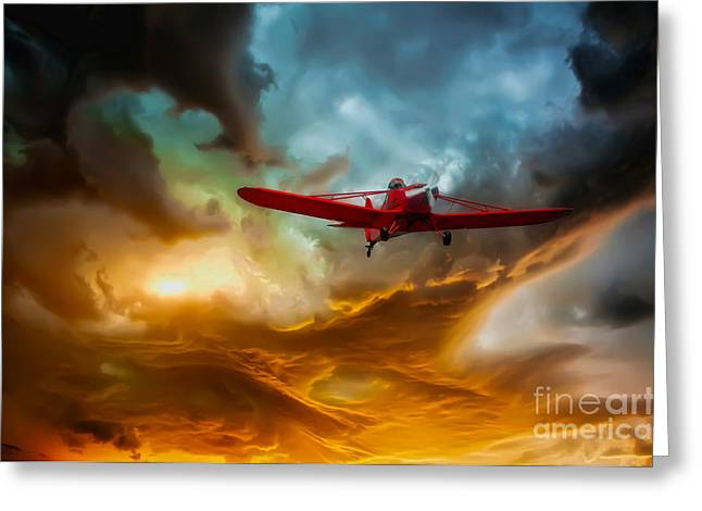 Aviation Photography Greeting Cards - Through The Abyss Greeting Card by Tom York Images
