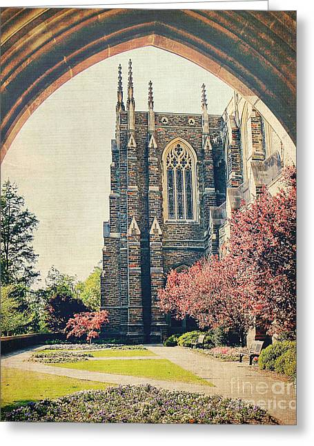 Duke Greeting Cards - Through the Arch Greeting Card by Emily Kay