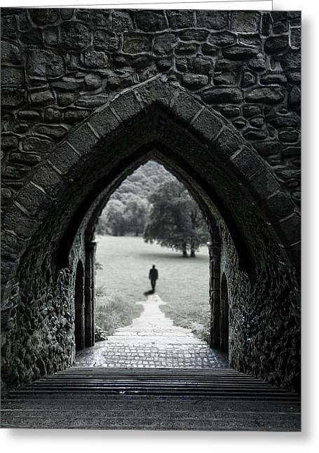 Castle Room Greeting Cards - Through the Arch Greeting Card by Svetlana Sewell