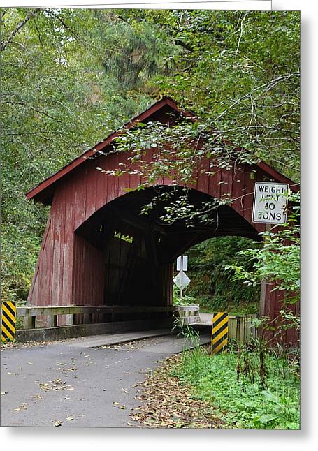 North Fork Greeting Cards - Through the Bridge Greeting Card by Ansel Price
