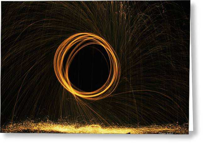 Diaae Bakri Greeting Cards - Through the fire and flames Greeting Card by Diaae Bakri
