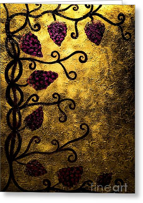 Grapevines Greeting Cards - Through the Grapevine Greeting Card by Donna Murray